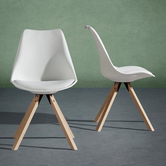 Stuhl Ricky - Weiß, MODERN, Holz/Kunststoff (48/85/55cm) - Modern Living