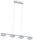 Led Hängeleuchte Palu - Chromfarben, Glas/Metall (90/16,5/120cm) - Premium Living