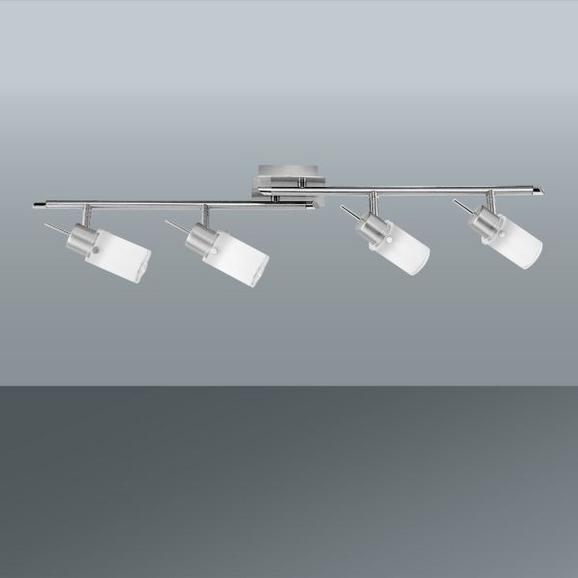 Spotlámpa Max - Nikkel/Fehér, konvencionális, Üveg/Fém (76cm) - Mömax modern living
