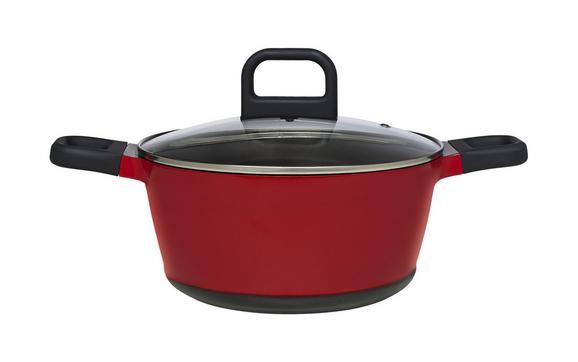 Lonec Za Meso Desiree - rdeča/črna, Moderno, kovina/umetna masa (24/11,5cm) - Mömax modern living