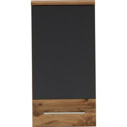 Oberschrank Eichefarben/Anthrazit - Chromfarben/Eichefarben, MODERN, Holzwerkstoff/Metall (35/70/21cm) - Premium Living
