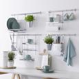 Șină De Agățare Bucătătărie Chester - culoare crom, metal (57cm) - Premium Living