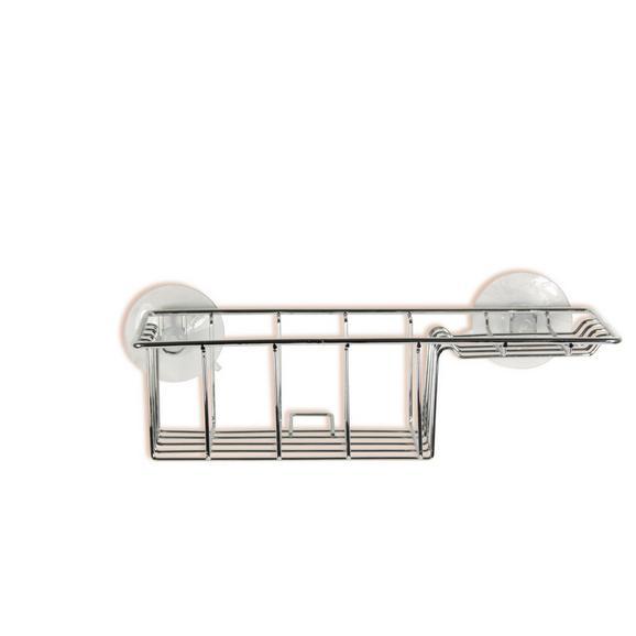 Koplaniški Regal Milano 5 - srebrna, Konvencionalno, kovina (27/13/7,5cm) - Mömax modern living
