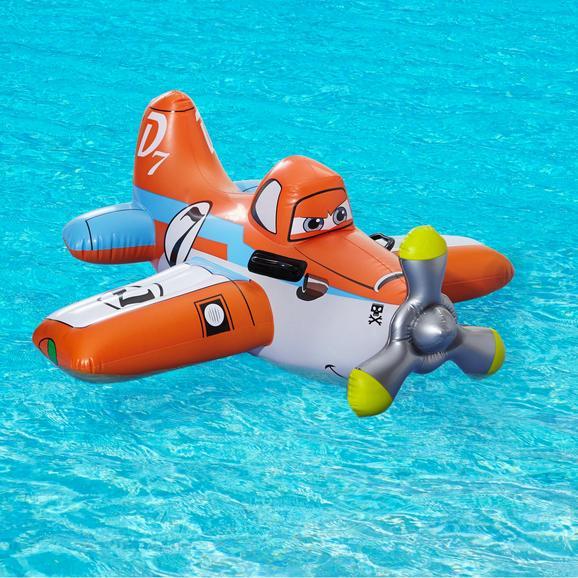 Schwimmhilfe Ride On Plane - Orange/Weiß, MODERN, Kunststoff (119/119cm) - INTEX