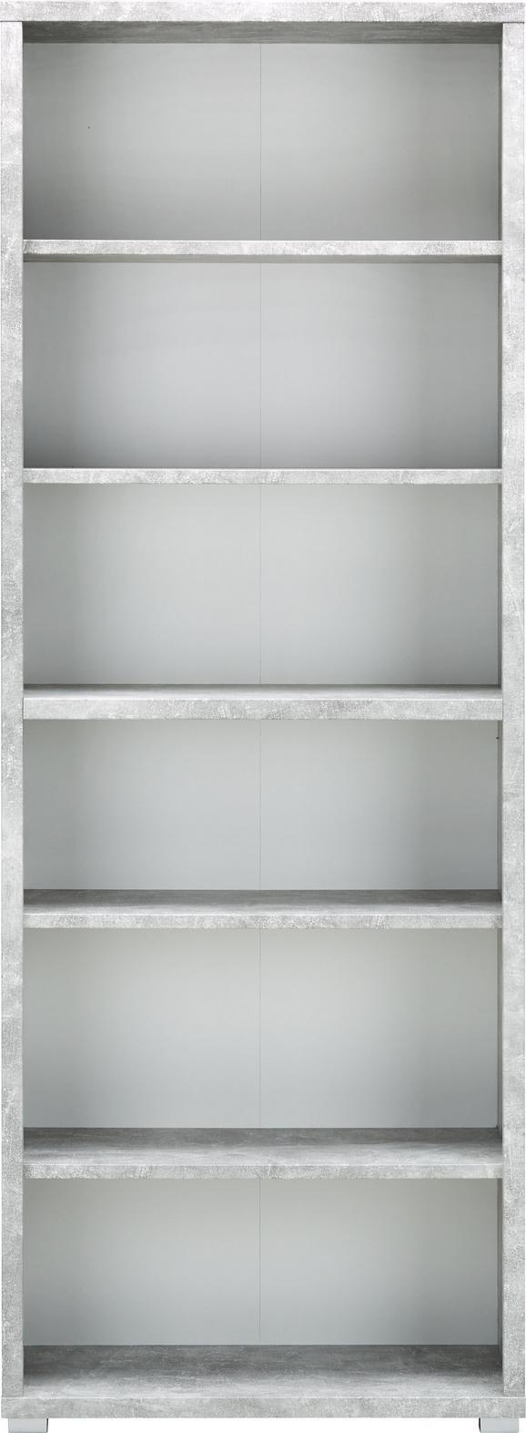Regal Line4 - siva/bela, Moderno, leseni material (80/218/36cm) - Mömax modern living