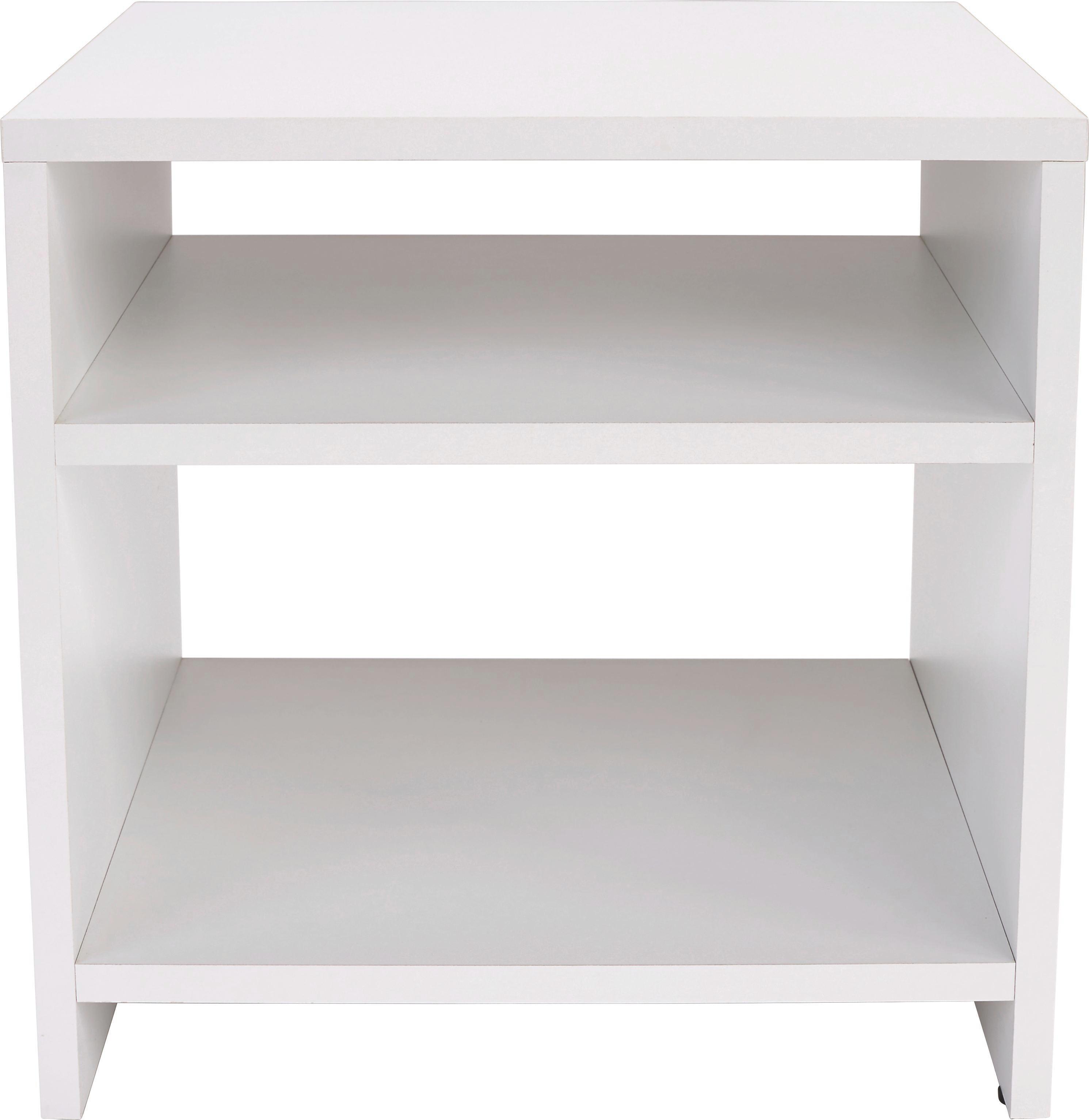 Kisasztal Luca - fehér, modern, faanyagok (40/40/37cm)