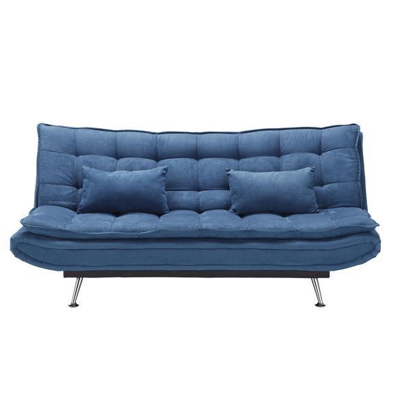 Velika Zofa Cloud - srebrna/temno modra, kovina/tekstil (196/92/98cm) - Mömax modern living