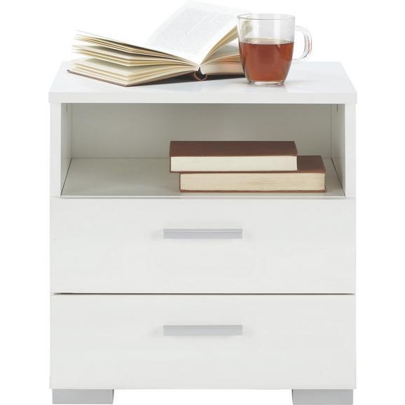 Nočna Omarica Three - aluminij/bela, umetna masa/leseni material (45/47/35cm) - Mömax modern living