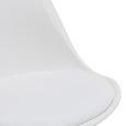 Stuhl Ricky - Weiß, MODERN, Holz/Kunststoff (48/85/55cm) - Bessagi Home