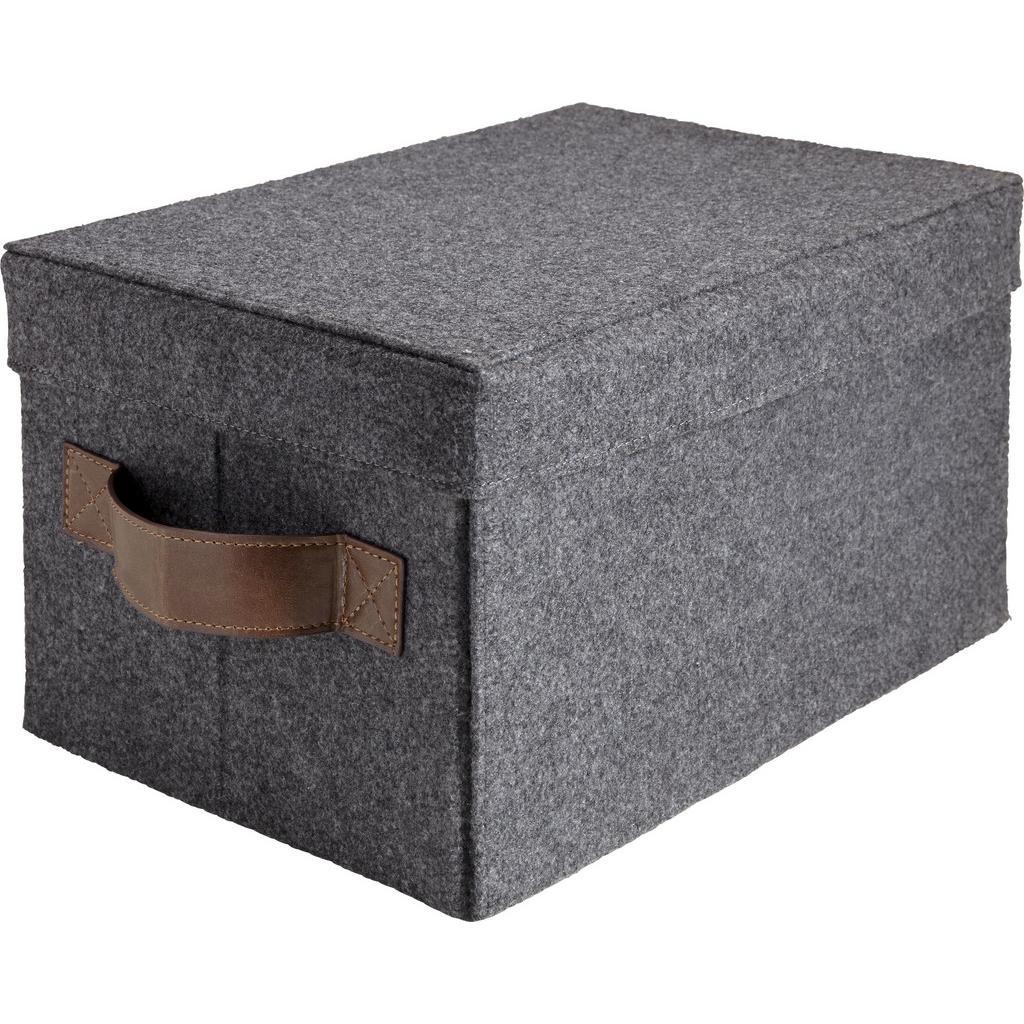 Box Linus in Grau ca. 39x26x21 cm