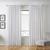 Vorhang Nikita aus Leinen ca.140x245cm - Weiß, Textil (140/245cm) - Bessagi Home