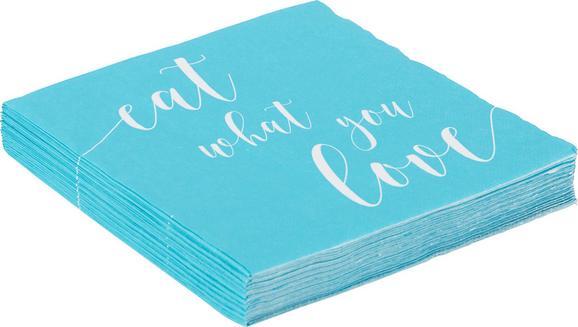 Serviette Fun aus Papier in Blau - Blau, Papier (16,5/16,5/2,5cm) - Mömax modern living