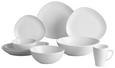 Speiseteller Nele Weiß - Weiß, MODERN, Keramik (26,3/23/2,5cm) - Premium Living