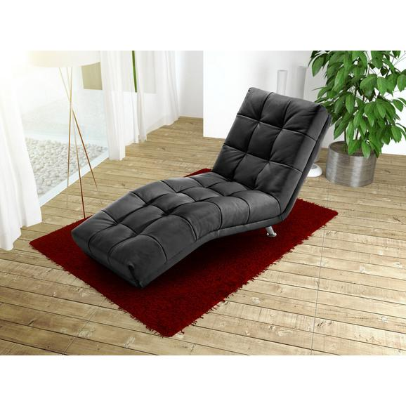 Şezlong Isabella - culoare crom/negru, Modern, metal/textil (68/88/164cm)