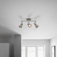 Deckenleuchte max. 50 Watt 'Ina' - Chromfarben, MODERN, Metall (35/8/16,5cm) - Bessagi Home