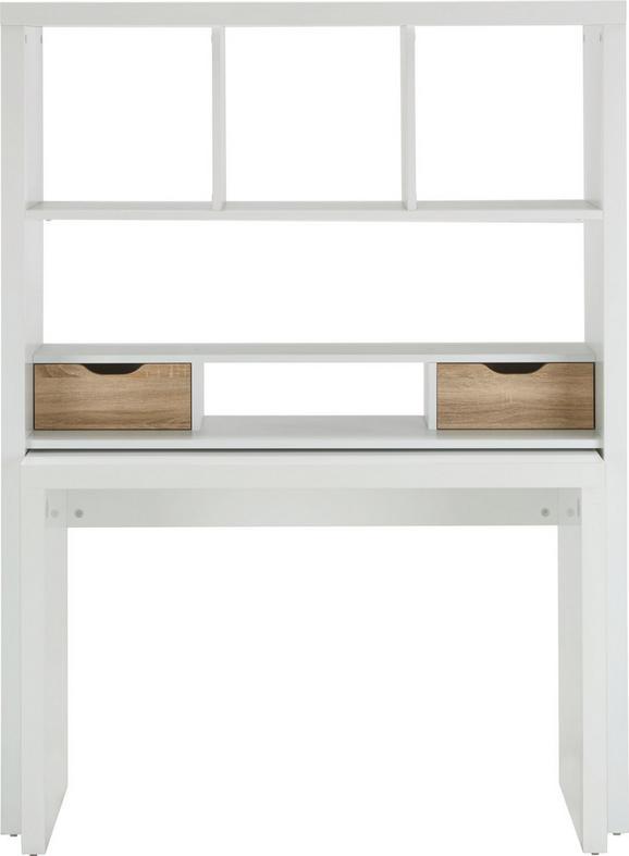 Pisalna Miza Space - bela/hrast, Moderno, leseni material (117,2/156,6/45cm)