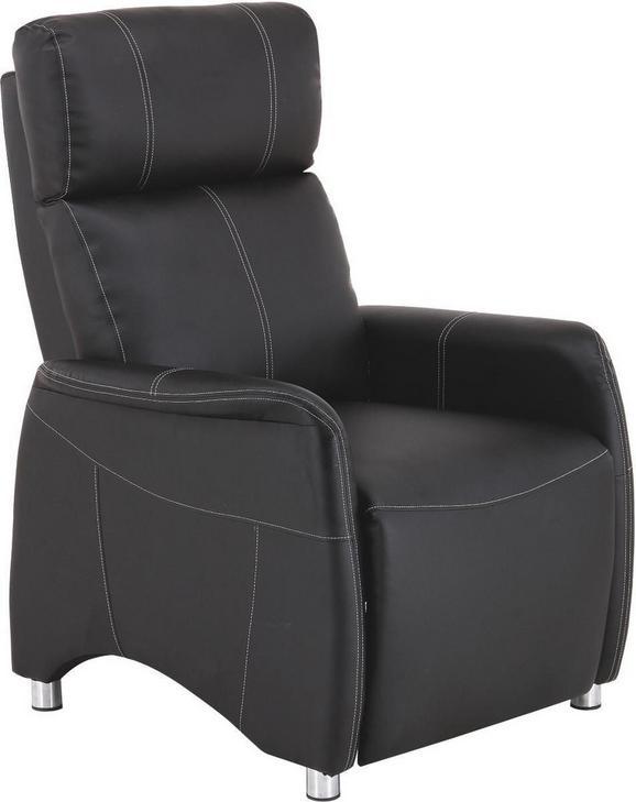 Naslanjač Spirit - črna/krom, Moderno, kovina/tekstil (78cm) - Mömax modern living