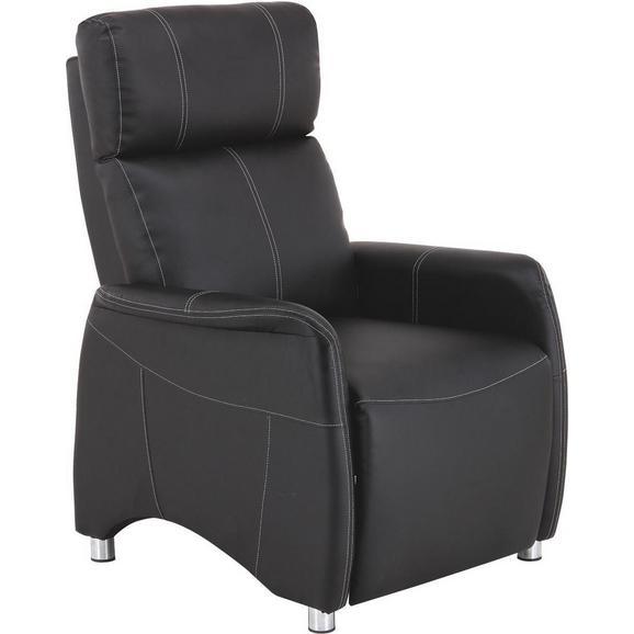 Naslanjač Spirit - črna/krom, Moderno, kovina/tekstil (78/113,5/90cm) - Mömax modern living