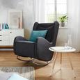 Gugalnik Lennard - siva/krom, Moderno, kovina/tekstil (68/107/102cm) - Modern Living