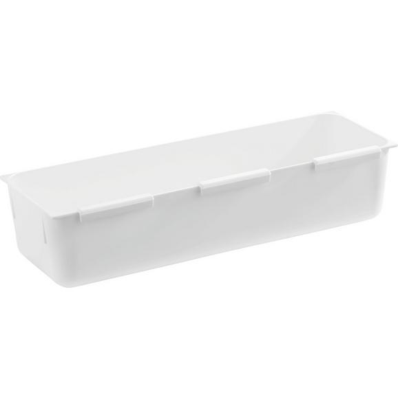 Besteckeinsatz Wanda Weiß - Weiß, Kunststoff (7,5/22,5cm)
