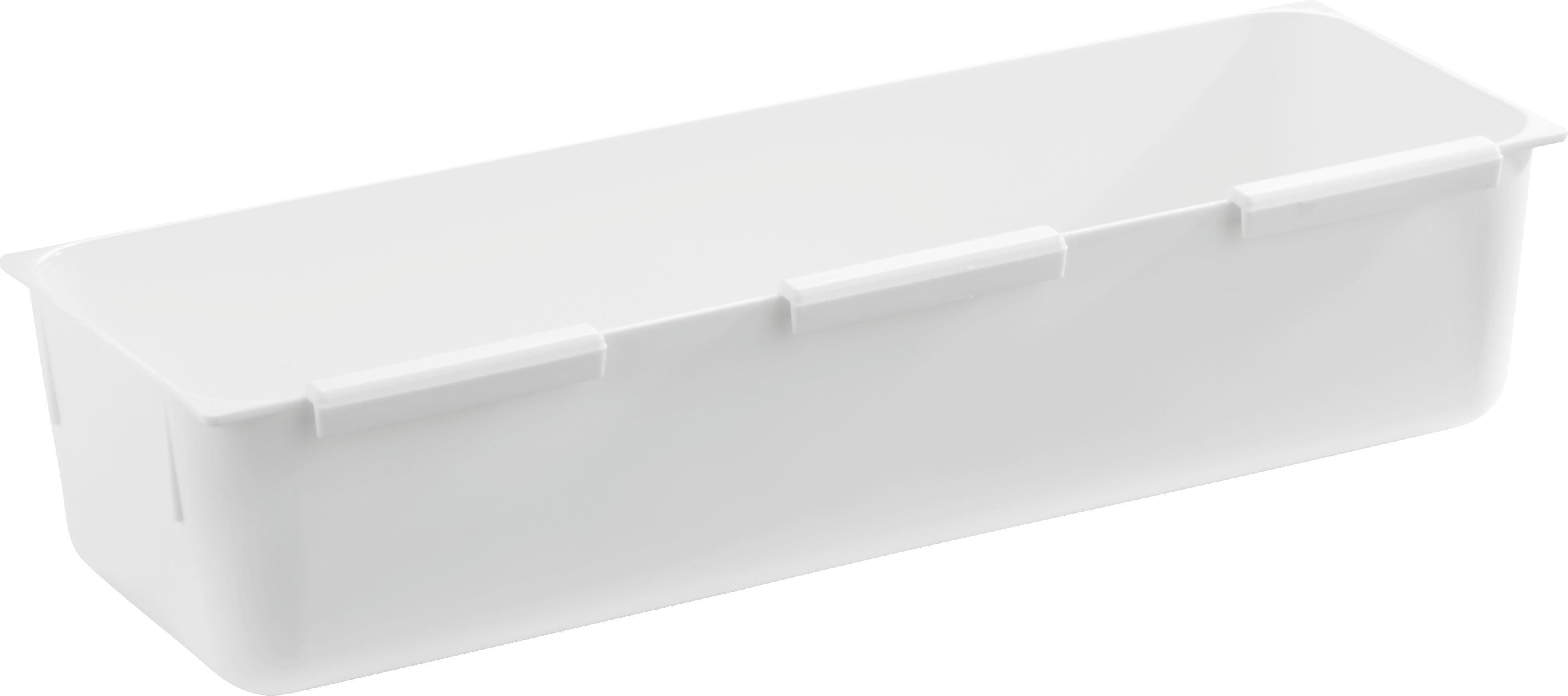 Schubladenbox Wanda in Weiß, ca. 7,5x22,5cm - Weiß, Kunststoff (7,5/22,5cm)