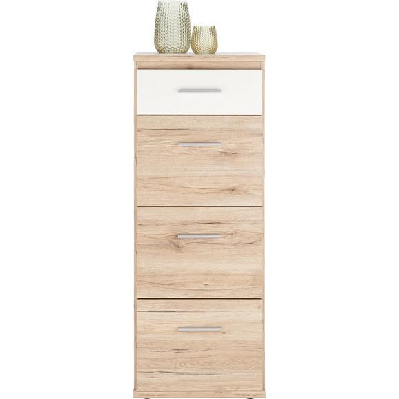 Kommode in Weiß/Eiche - Eichefarben/Weiß, Holz/Holzwerkstoff (46/121/40cm) - Modern Living
