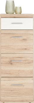 Kommode Weiß/Eiche - Eichefarben/Weiß, Holz/Holzwerkstoff (46/121/40cm) - Modern Living