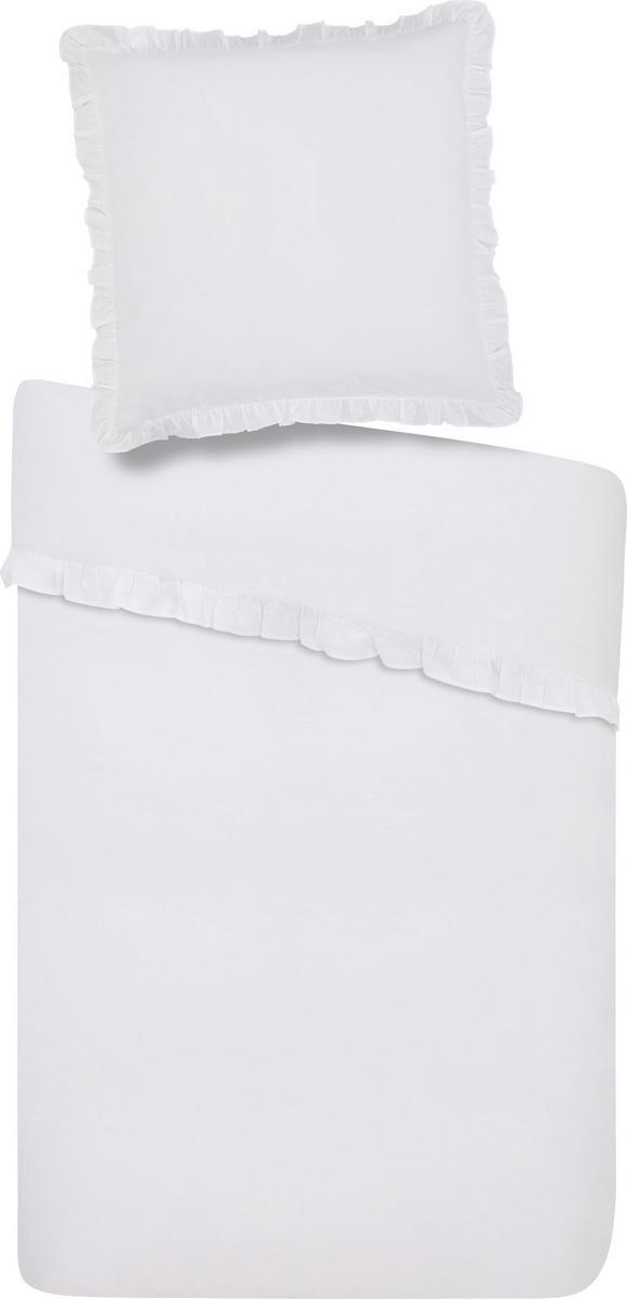 Bettwäsche Rüschen in Weiß, ca. 135x200cm - Weiß, ROMANTIK / LANDHAUS, Textil (135/200cm) - ZANDIARA