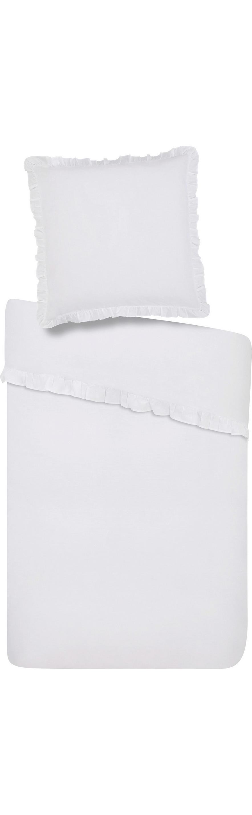 Bettwäsche Rüschen In Weiß Ca 135x200cm Online Kaufen Mömax