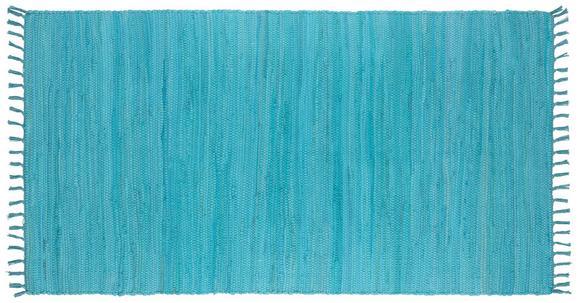 Fleckerlteppich Julia Hellblau 70x130cm - Hellblau, ROMANTIK / LANDHAUS, Textil (70 130 cm) - Mömax modern living