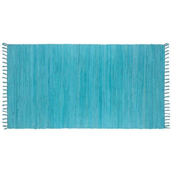 Fleckerlteppich Julia Hellblau 70x130cm - Hellblau, ROMANTIK / LANDHAUS, Textil (70/130cm) - Mömax modern living