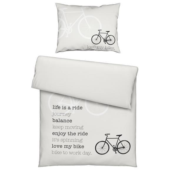 Bettwäsche Ride Weiß, 140x200cm - Weiß, MODERN, Textil (140/200cm) - Mömax modern living