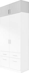 Nastavek Za Omaro Celle - bela, Moderno, umetna masa/les (91/40/54cm) - Premium Living