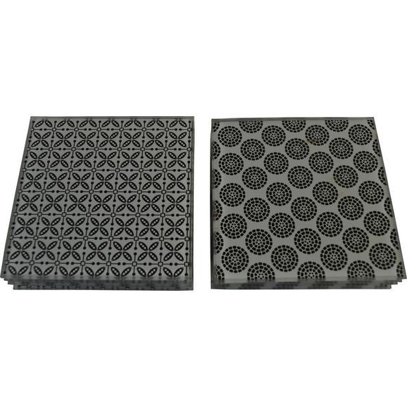 Set Podstavkov Shiva - črna/bela, Trendi, keramika (10/10cm) - Mömax modern living