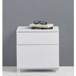 Nachtkästchen Basic - Weiß, MODERN, Holz/Metall (40/40/30cm) - Mömax modern living