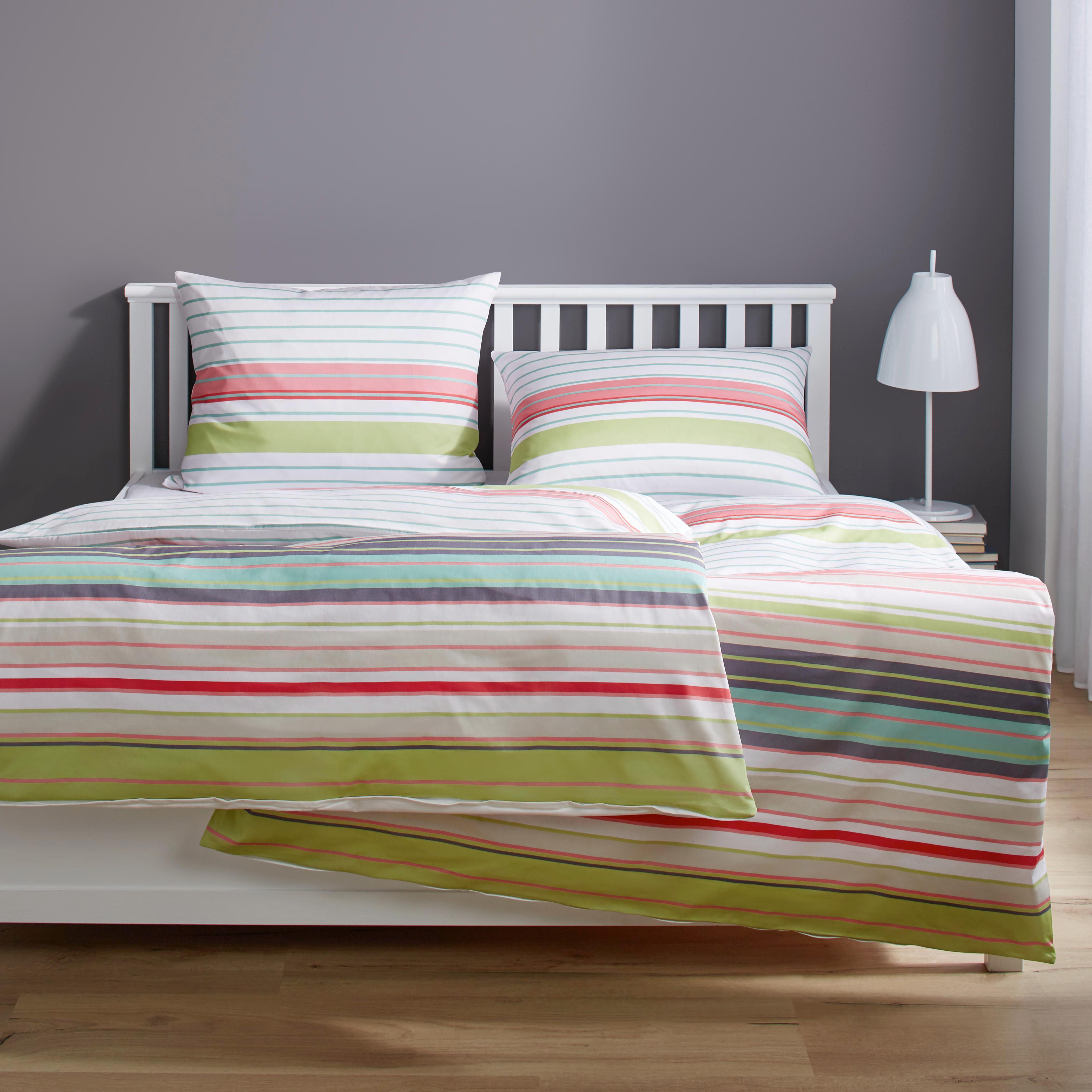 Bettwäsche S. Oliver Baumwollsatin - Multicolor/Rosa, MODERN, Textil - S. OLIVER
