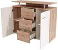 Komoda Leon Pl03 - jelša/bela, Moderno, leseni material (120/92,3/40cm) - Mömax modern living