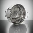 Set Posod Ron - srebrna/prozorna, kovina/steklo - Premium Living