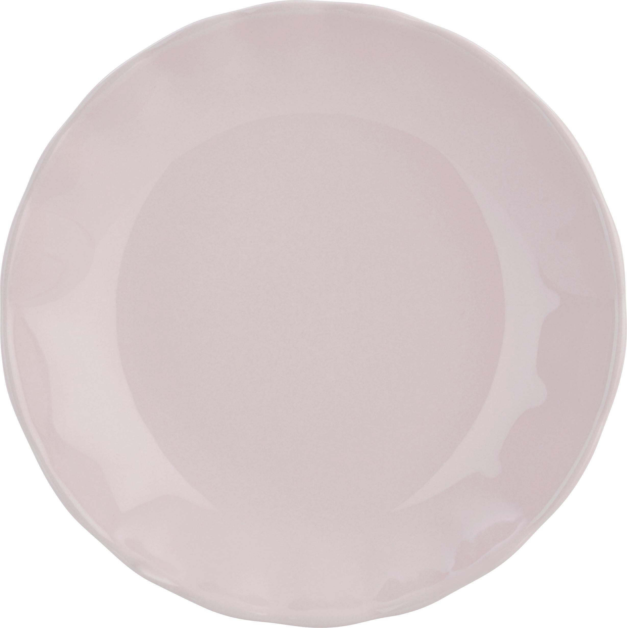 Globoki Krožnik Pauline - roza, Romantika, keramika (25cm) - ZANDIARA