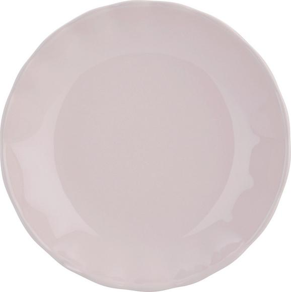 Suppenteller Pauline Rosa - Rosa, ROMANTIK / LANDHAUS, Keramik (25cm) - Zandiara