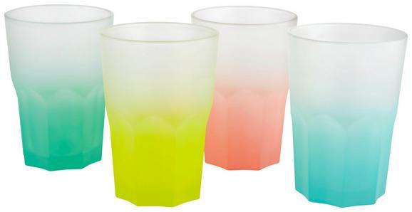 Trinkglas Sandy in verschiedenen Farben - Hellrosa/Gelb, Glas (0,40l) - Mömax modern living