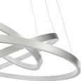 LED-Hängeleuchte Liam max. 25 Watt - Silberfarben, MODERN, Kunststoff/Metall (50/50/120cm)