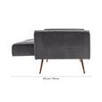 Sofa mit Schlaffunktion in Grau 'Megan' - Goldfarben/Grau, MODERN, Holz/Textil (209/83/83cm) - Bessagi Home