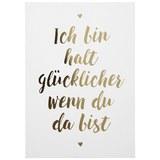 Postkarte Statements in Gold - Goldfarben/Weiß, MODERN, Papier (10,5/14,8cm)