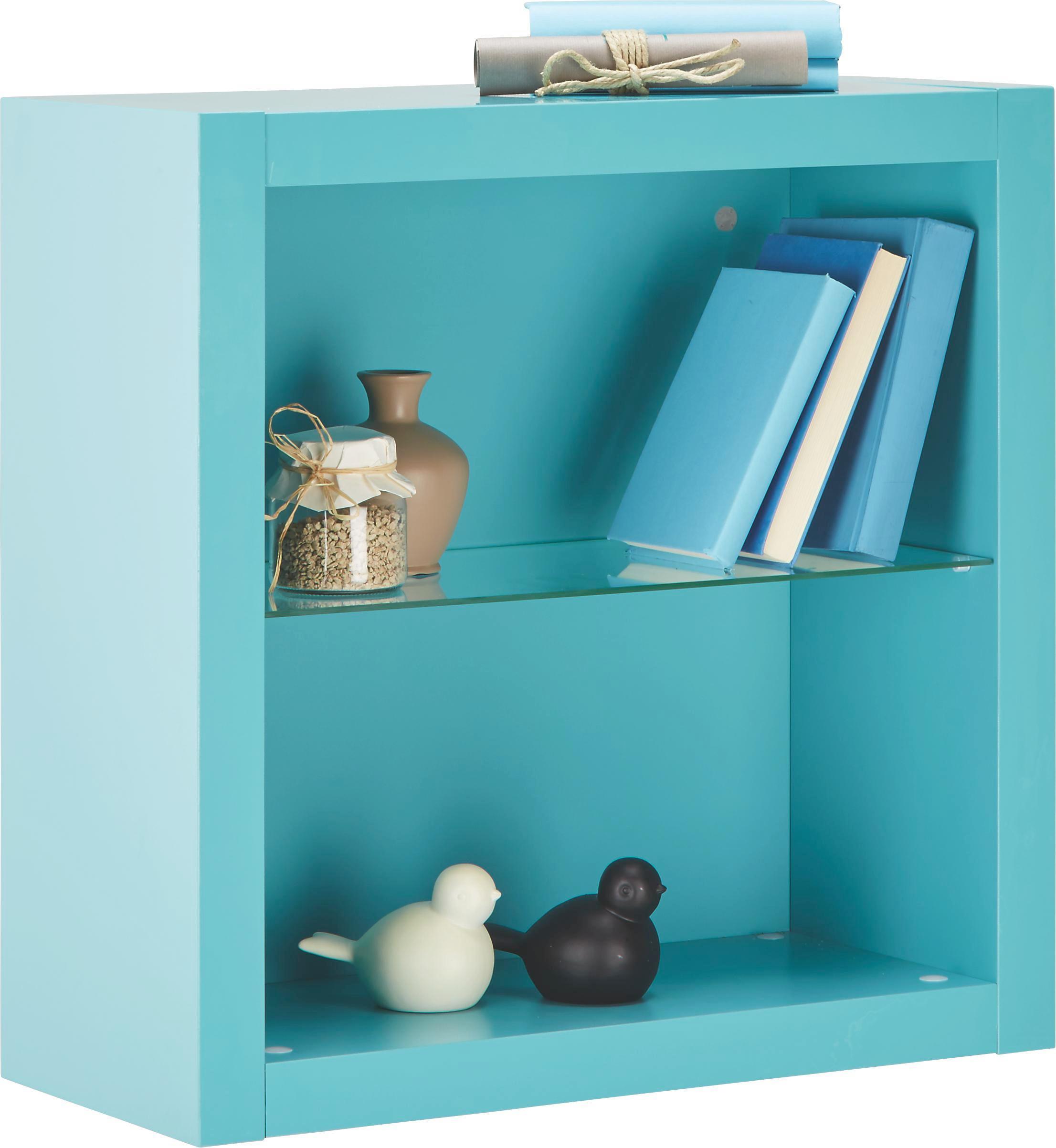 Falipolc Match Mare - világos kék, modern, faanyagok (60/60/26cm)