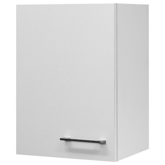 Küchenoberschrank Weiß - Edelstahlfarben/Weiß, MODERN, Holzwerkstoff/Metall (40/54/32cm) - FlexWell.ai