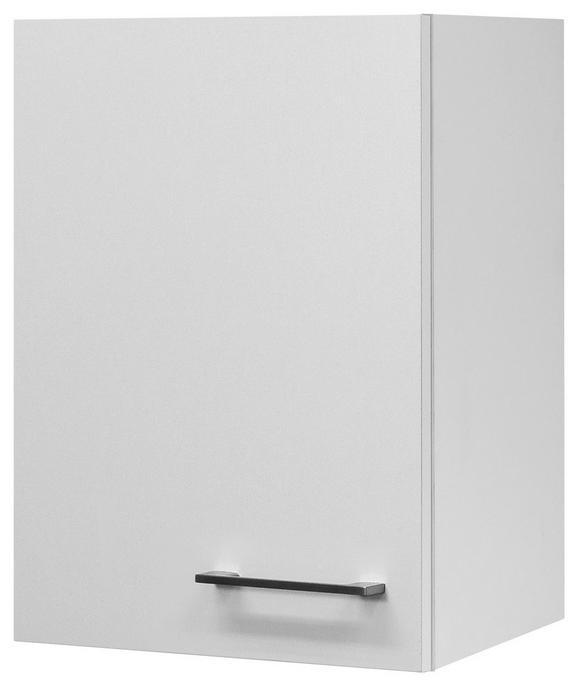 Küchenoberschrank Weiß - Edelstahlfarben/Weiß, MODERN, Holzwerkstoff/Metall (40/54/32cm)