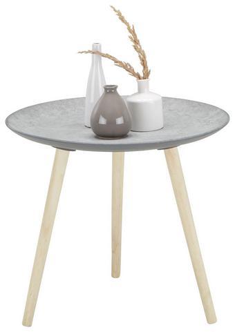 Kisasztal Grey -sb- - Natúr/Barna, Faalapú anyag/Fa (54,5/47,5/54,50cm)