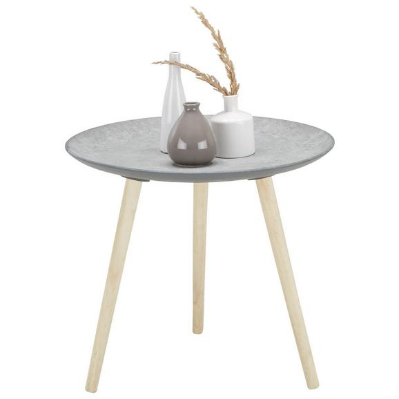 Mizica Grey - naravna/siva, leseni material/les (54,5/47,5/54,50cm) - Mömax modern living