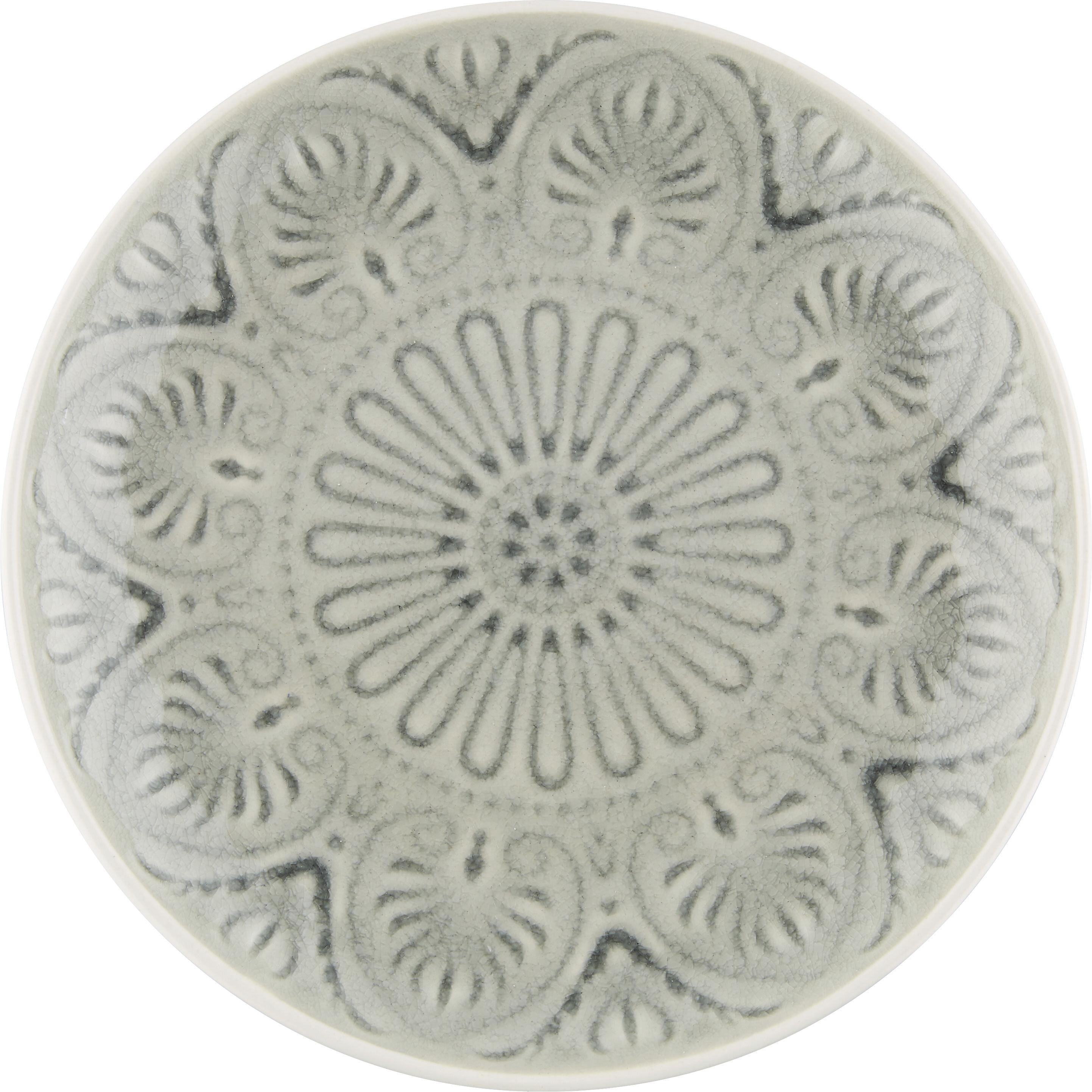 Desertni Krožnik Panja - siva, Trendi, keramika (20/3,2cm) - MÖMAX modern living